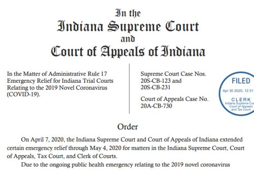 Emergency Relief for Indiana Relating to COVID-19